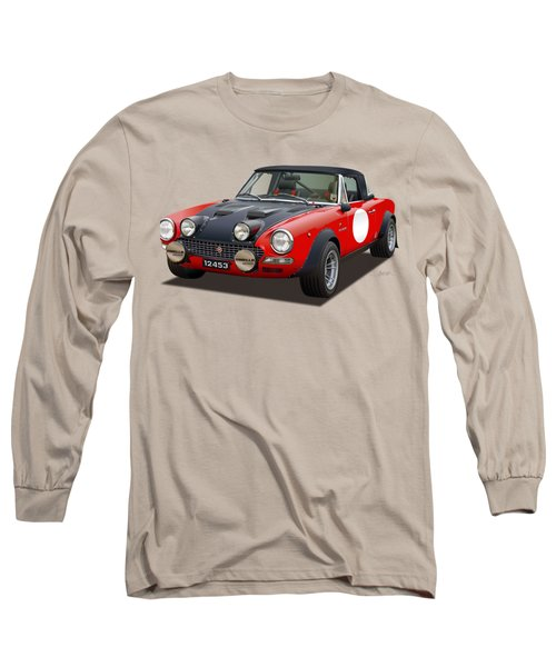 Fiat 124 Abarth Rally Illustration Long Sleeve T-Shirt