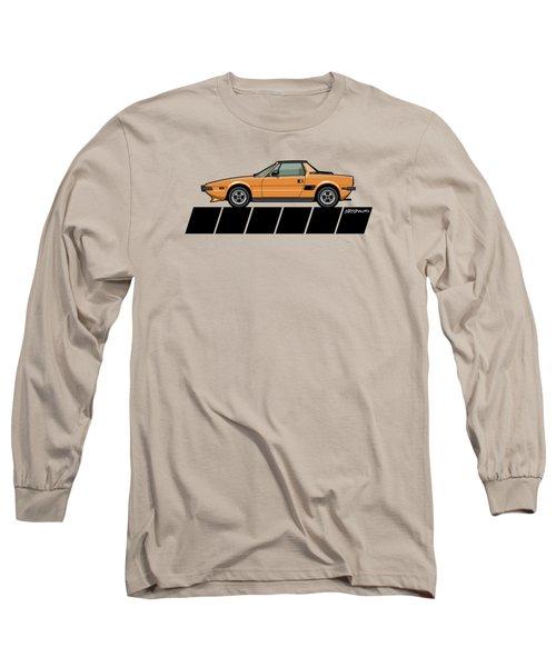 Fiat Bertone X1/9 Orange Stripes Long Sleeve T-Shirt