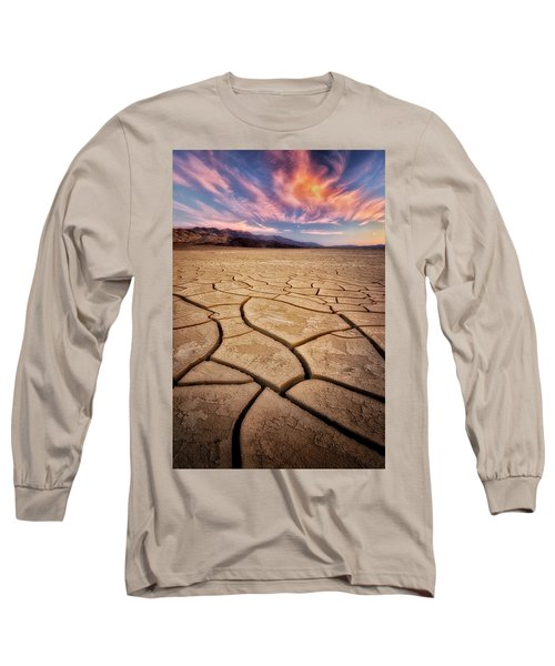 Field Of Cracks Long Sleeve T-Shirt by Nicki Frates