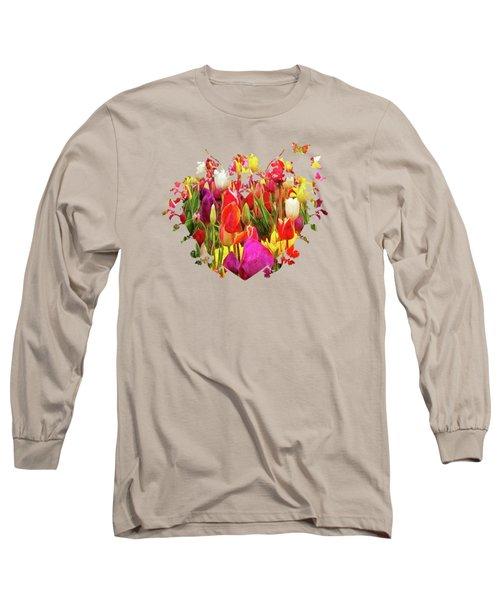 Field Of Tulips Long Sleeve T-Shirt by Thom Zehrfeld