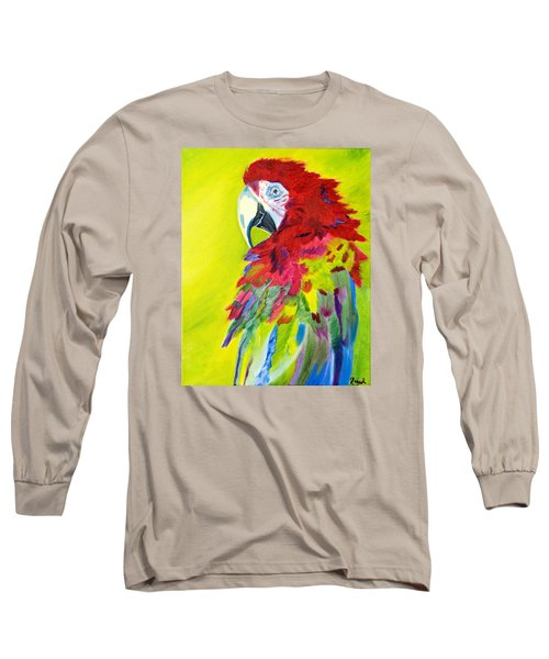 Fiery Feathers Long Sleeve T-Shirt by Meryl Goudey
