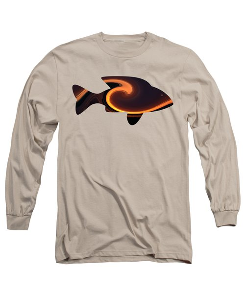 Fiery Wave Fish Long Sleeve T-Shirt