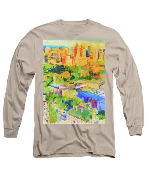 Fifth Avenue Shadows Over The Metropolitan Long Sleeve T-Shirt