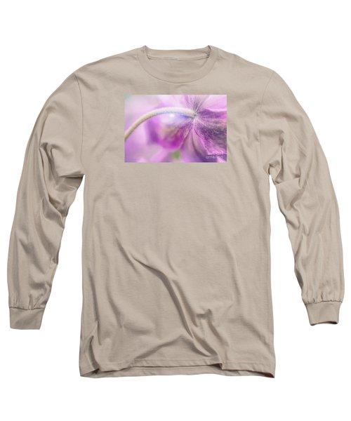 Fifth Gospel Long Sleeve T-Shirt by Jean OKeeffe Macro Abundance Art
