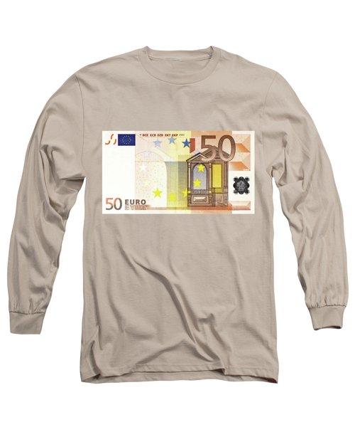 Fifty Euro Bill Long Sleeve T-Shirt