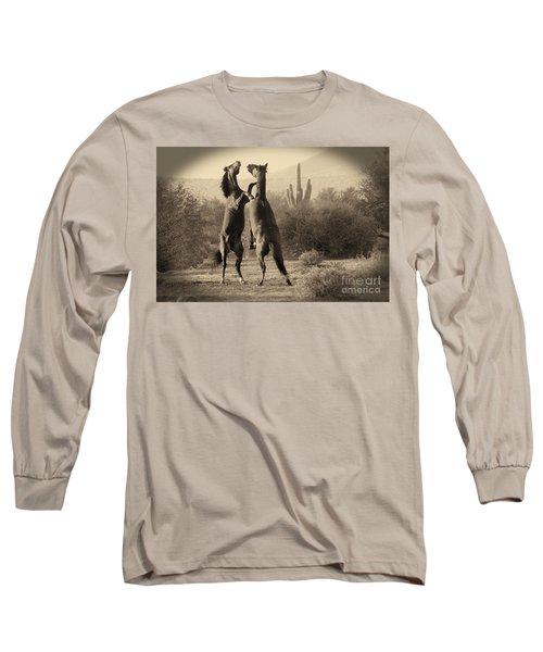 Fighting Stallions Long Sleeve T-Shirt