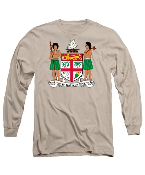 Fiji Coat Of Arms Long Sleeve T-Shirt by Movie Poster Prints