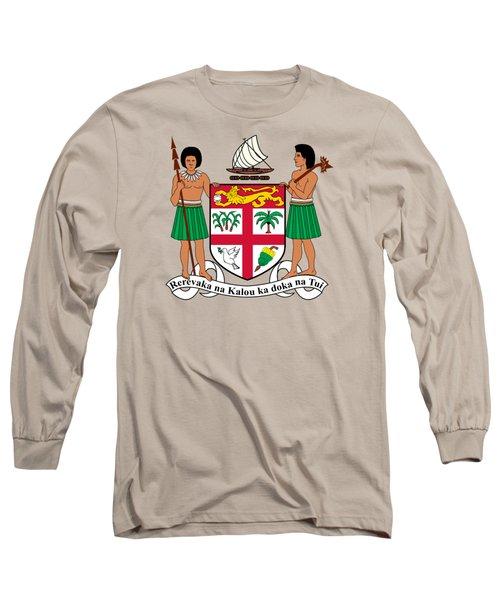 Fiji Coat Of Arms Long Sleeve T-Shirt