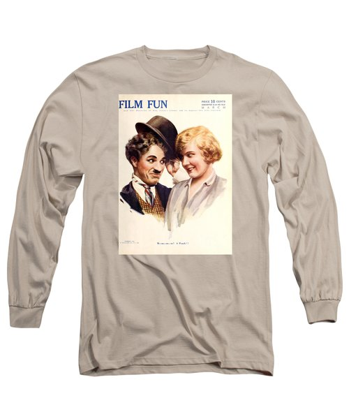 Film Fun Classic Comedy Magazine Featuring Charlie Chaplin And Girl 1916 Long Sleeve T-Shirt
