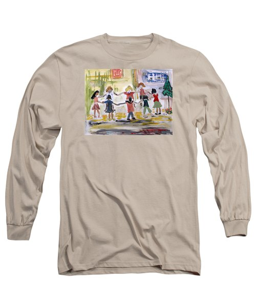 Long Sleeve T-Shirt featuring the painting Finding Time To Play by Mary Carol Williams