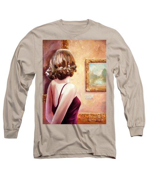 Fine Art Gallery Opening Night Long Sleeve T-Shirt by Michael Rock