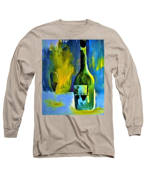 Long Sleeve T-Shirt featuring the painting Fine Wine Glow by Lisa Kaiser