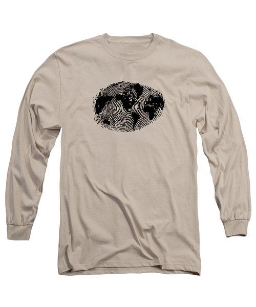 fingerprint 20X30 Long Sleeve T-Shirt