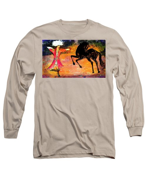 Long Sleeve T-Shirt featuring the painting Firat And Shishan Dance I by Anastasia Savage Ealy