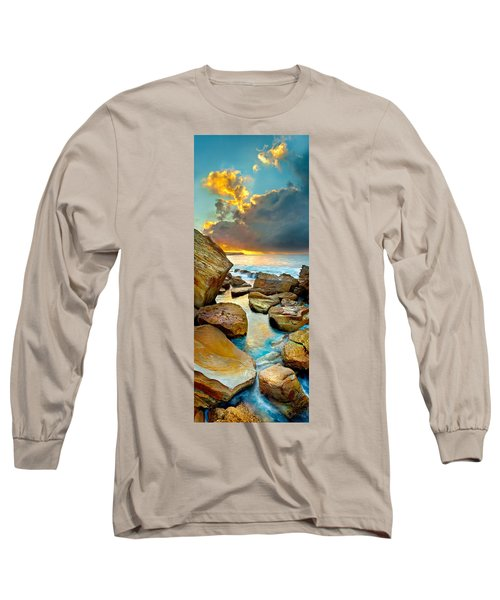 Fire In The Sky Long Sleeve T-Shirt by Az Jackson