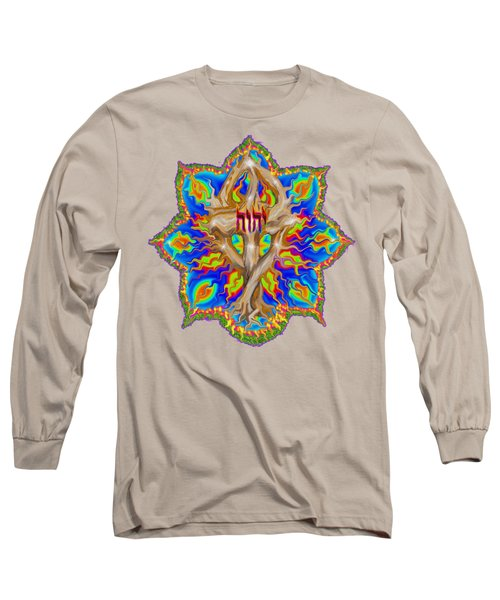 Fire Tree With Yhwh Long Sleeve T-Shirt by Hidden Mountain