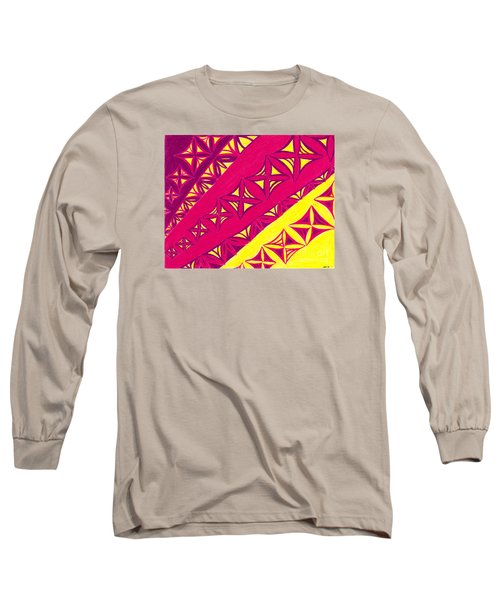 Long Sleeve T-Shirt featuring the drawing Fire Velvet Lace by Kim Sy Ok