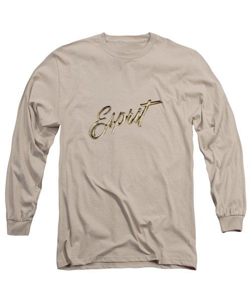 Firebird Esprit Chrome Emblem Long Sleeve T-Shirt by YoPedro