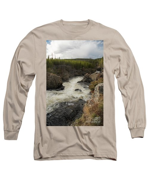 Firehole River Cascade Long Sleeve T-Shirt by Cindy Murphy - NightVisions
