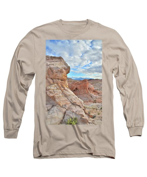First Light On Valley Of Fire Long Sleeve T-Shirt by Ray Mathis