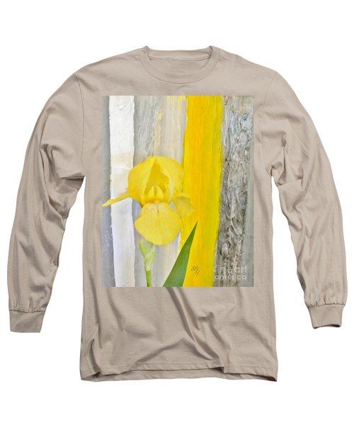 First Yellow Iris Long Sleeve T-Shirt by Marsha Heiken