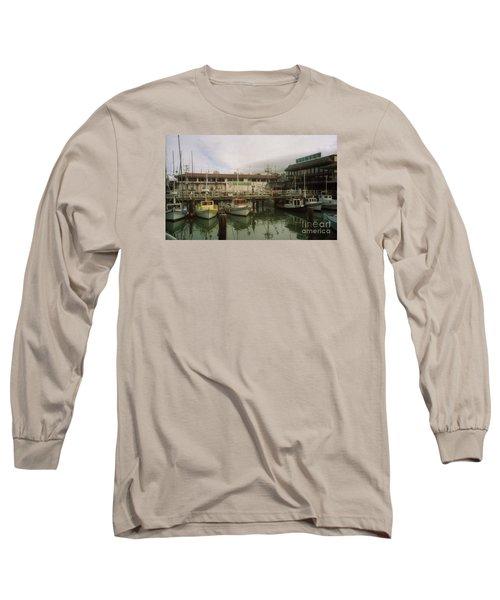 Fishermans Wharf Boats Long Sleeve T-Shirt