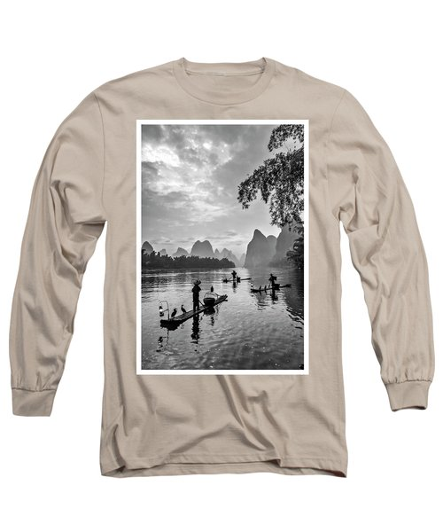 Fishermen At Dawn. Long Sleeve T-Shirt