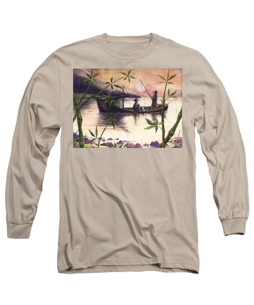 Fishing In The Sunset   Long Sleeve T-Shirt