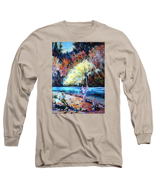 Fishing Painting Catch Of The Day Long Sleeve T-Shirt