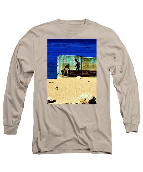 Long Sleeve T-Shirt featuring the photograph Fishing by Vanessa Palomino