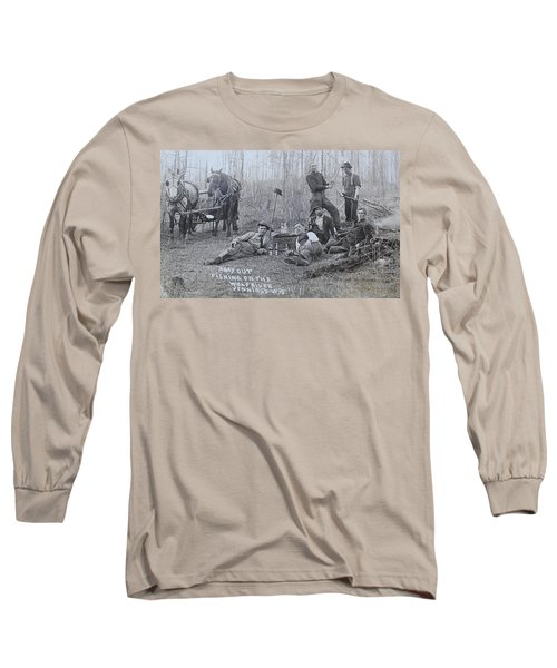 Fishing With The Boys Long Sleeve T-Shirt by Tammy Schneider