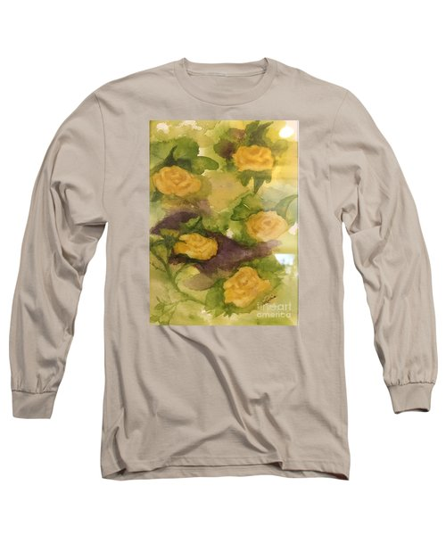 Five Yellow Roses Long Sleeve T-Shirt