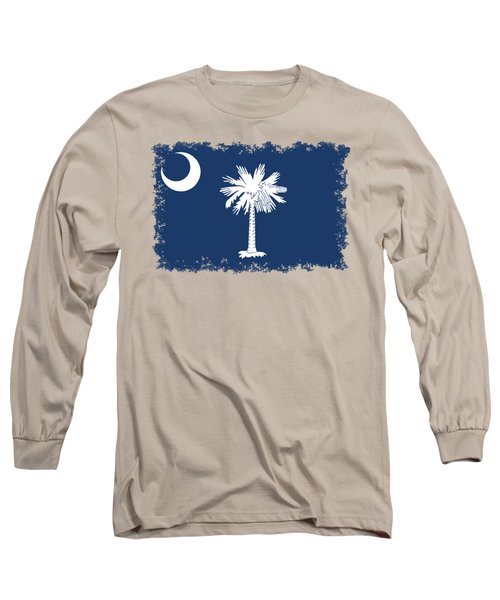 Flag Of South Carolina Authentic Version Long Sleeve T-Shirt