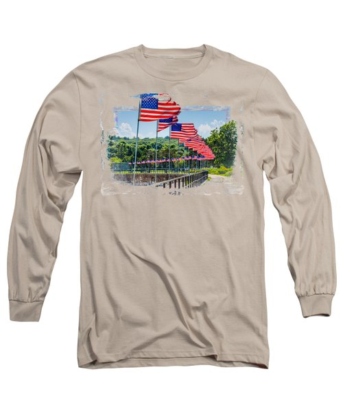 Flag Walk Long Sleeve T-Shirt by John M Bailey