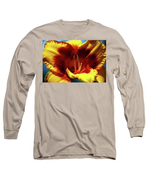 Flame Daylily 1238 H_2 Long Sleeve T-Shirt