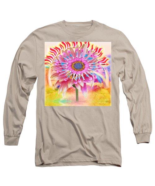 Flaming Sunrise Long Sleeve T-Shirt by Belinda Threeths