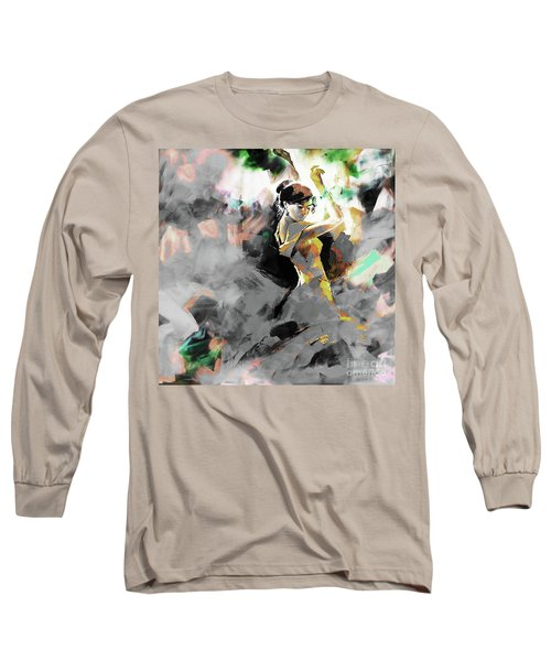 Long Sleeve T-Shirt featuring the painting Flamenco Dance Art 7u7 by Gull G