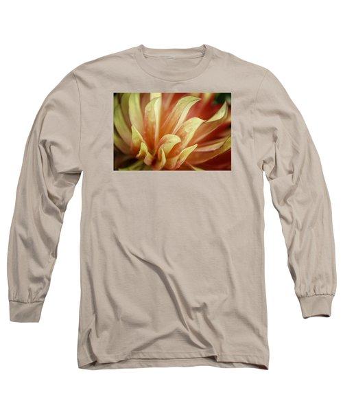 Flaming Dahlia Long Sleeve T-Shirt