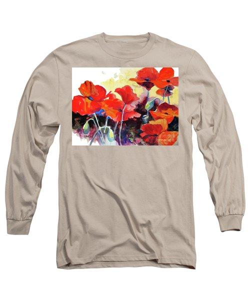 Flaming Poppies Long Sleeve T-Shirt