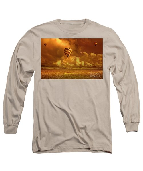Long Sleeve T-Shirt featuring the photograph Flaming Sky by Charuhas Images