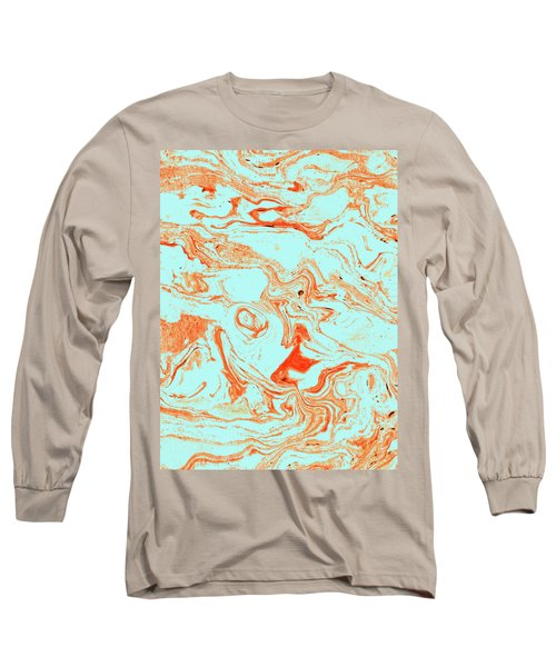 Flamingo And Sea Marble Long Sleeve T-Shirt