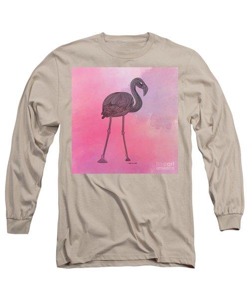 Flamingo5 Long Sleeve T-Shirt by Megan Dirsa-DuBois
