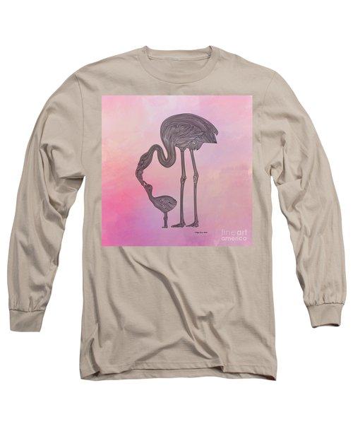 Flamingo6 Long Sleeve T-Shirt by Megan Dirsa-DuBois