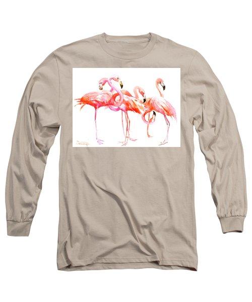 Flamingos Long Sleeve T-Shirt by Suren Nersisyan