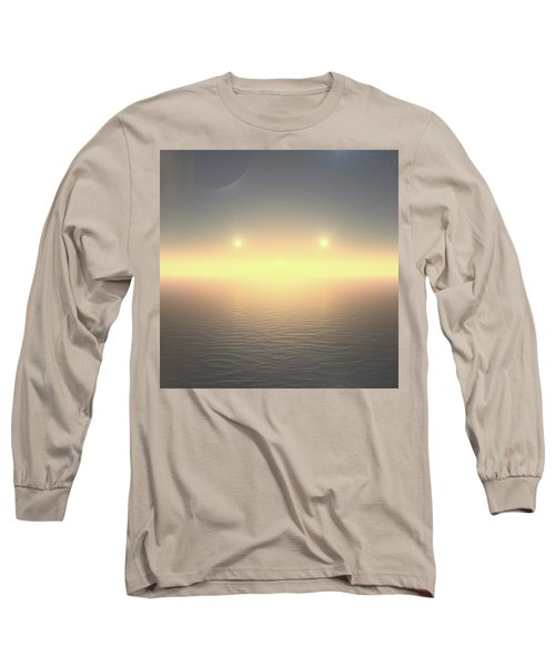 Long Sleeve T-Shirt featuring the digital art Flat Lights by Robert Thalmeier