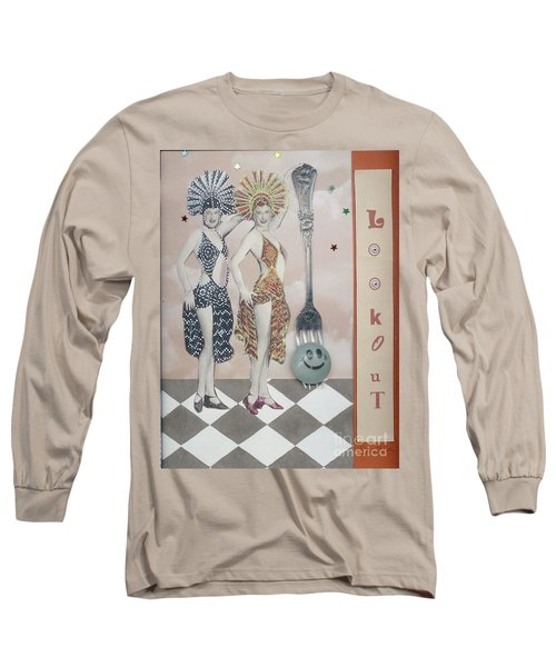 Long Sleeve T-Shirt featuring the mixed media Fling by Desiree Paquette