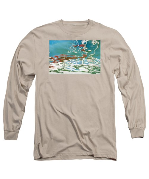 Floating On Blue 35 Long Sleeve T-Shirt by Wendy Wilton