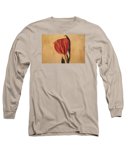 Long Sleeve T-Shirt featuring the painting Flor Del Alma by The Art Of Marilyn Ridoutt-Greene