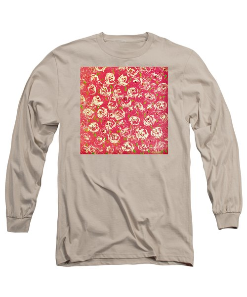 Long Sleeve T-Shirt featuring the painting Floral Design by Norma Duch