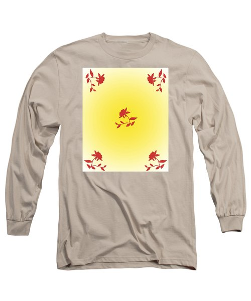 Long Sleeve T-Shirt featuring the digital art Floral Simplicity by Karen Nicholson